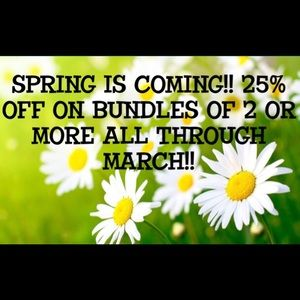 20% OFF ON BUNDLES OF 2 or MORE ALL MARCH!! 🌻🌸🌼